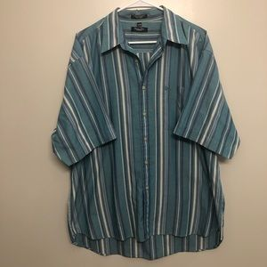 Christian Dior Monsieur striped button down blue